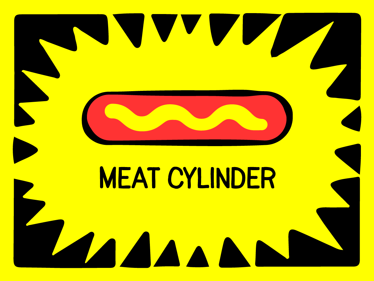 Meat Cylinder mustard hot dog band cover art art