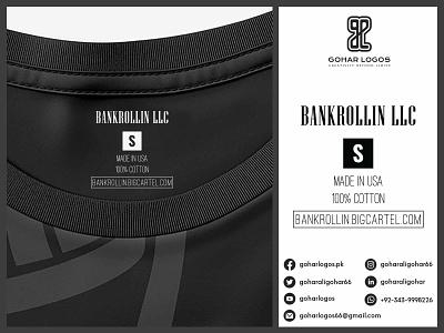 Bankrollin LLC Tag Design sticker label design labeldesign labels label hanger hang tag hangtag tag design tags tag shirt graphic design
