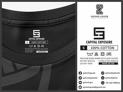 Capital Exposure Tag Design hangout hangtag hanger label design labeldesign labels label tag design tagline tags tag shirt