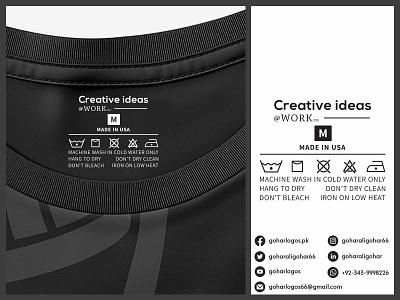 Creative Ideas Tag Design label design labeldesign labels label hang tag hangtag hanger shirt tag tag design tags tag