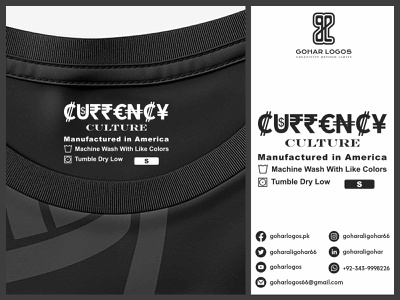 Currency Culture Tag Design label design labeldesign labels label hang tag hangtag hanger tag design tags tag