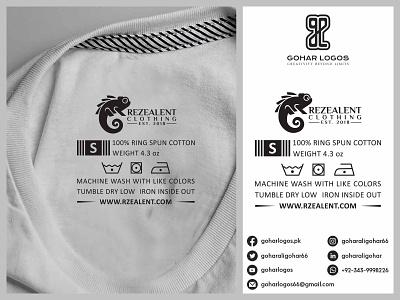 Rezealent Tag Design hang tag hanger hangtag label design labeldesign labels label shirt tag tag design tags tag