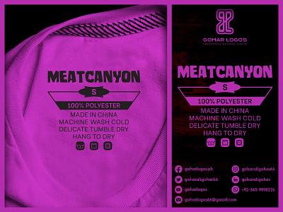 Meatcanyon Tag Design brand identity logodesign branding logo identity graphic design label tag