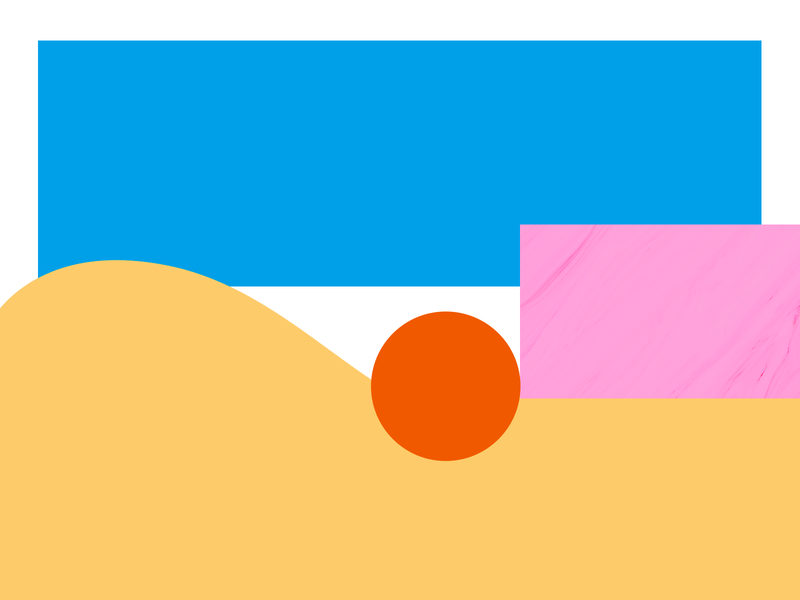 sunset №1 design color geometry simple illustration like pink symbol space day sun