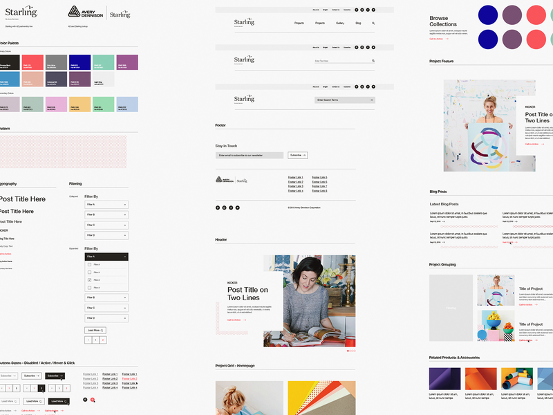 Starling Design System ui kit crafter craft product ecommerce design systems guidelines design system web ux ui design