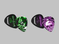 Quarantine Creative P1 instruments picks luthier guitar monogram skull metallica illustration identity typography logo branding design