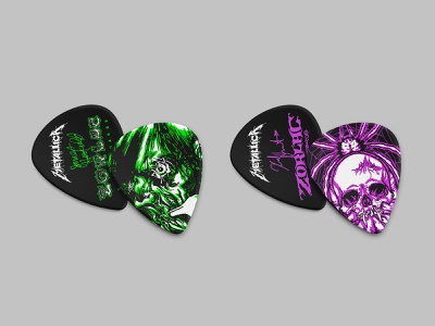 Quarantine Creative P1 instruments picks luthier guitar monogram skull metallica illustration identity typography logo branding design