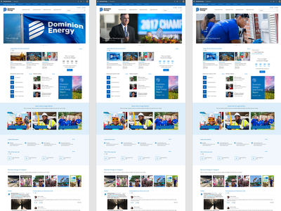 Dominion Energy - Sharepoint Intranet Concepts brand experience energy responsive microsoft intranet web ux ui typography branding design
