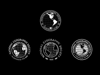 NGS - Globes / Badges vintage logo brand historical emblem badge natgeo geography vintage heritage identity typography logo branding design