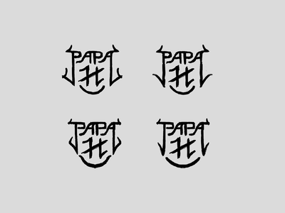 Papa H - Refined Marker Studies logotype sketch monogram metal logo letters letterforms illustration identity heavy metal concept typography branding design