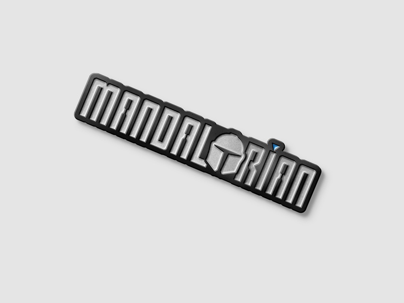 Mandalorian - Custom Type + Pin Concept boba fett star wars mando the mandalorian type illustration identity typography branding logo design