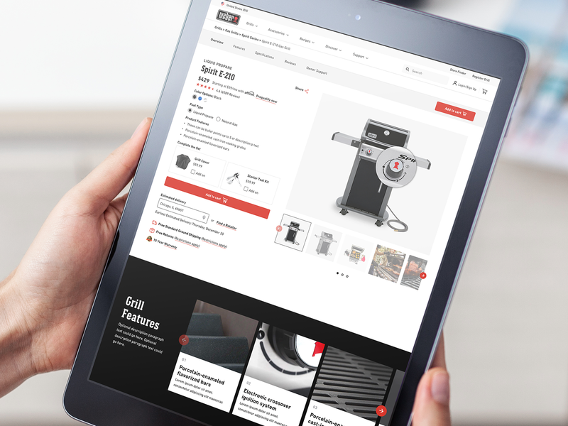 Product Detail Page - Revised UX cx responsive design ecommerce landing page product web ux ui typography branding design