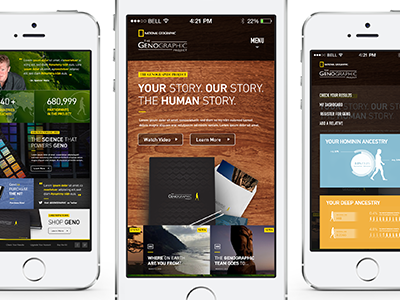 Genetics Site Reimagined (Mobile) mobile responsive web branding design