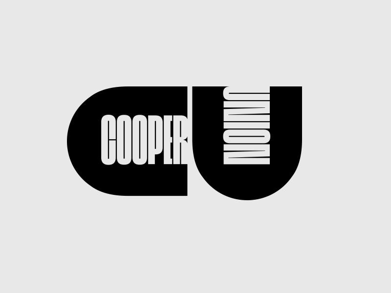Cooper Union Remix vintage shape typography design redesign remix lubalin branding logo