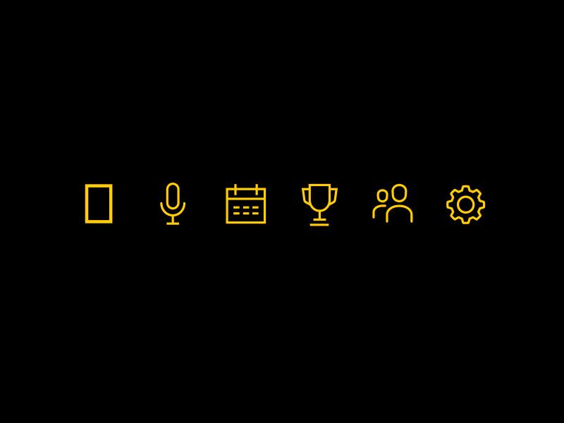 Custom Icon Set ux ui mobile web app branding design illustration icons
