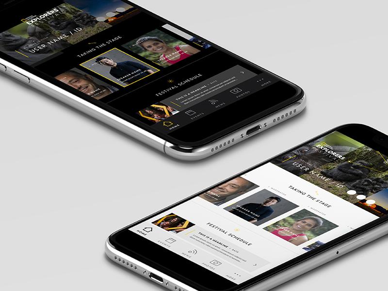 Explorers Festival - Concept App android iphone outdoors exploration science planet explore branding design mobile