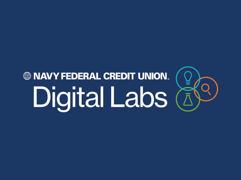 Navy Federal Labs uiux responsive web banking tech digital ideas create labs design branding logo
