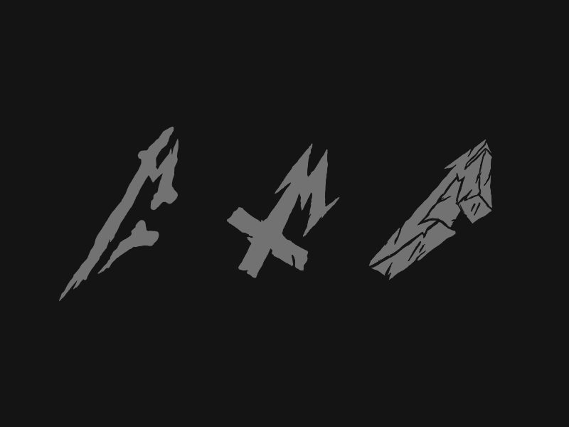 Heavy Metal Ms letterform metal guitar music heavy metal illustration identity logo typography design branding