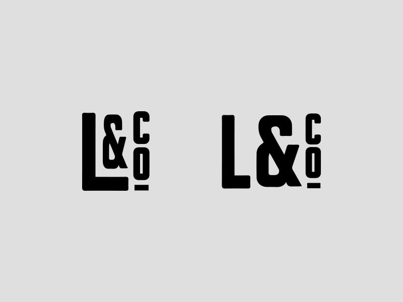 L & Company Concepts type wordmark ampersand concept creative identity logo typography branding design