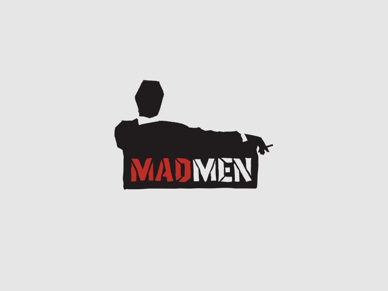 Madmen Sketch identity handdrawn cut illustration sketch logo agency branding design advertising madmen