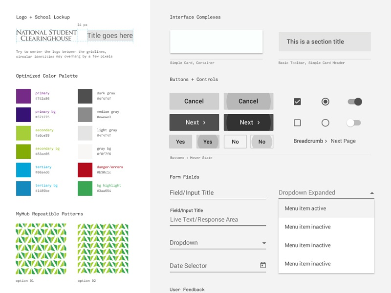NSC Design System material design creative pattern interface ux design design system design language google material ui