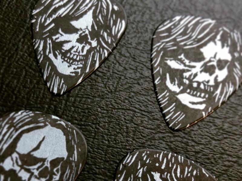 2018 Custom Guitar Picks four horsemen design illustration music guitar picks guitar skulls metallica