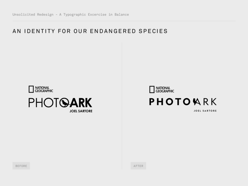 PhotoArk - Logo Before After bird animal brand illustration identity typography branding logo design