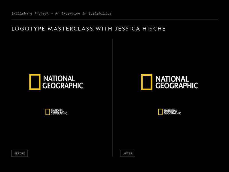 Skillshare - Logotype Masterclass Project geographic nat geo logotype classic revision logo typography type branding design skillshare