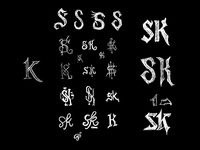 SK Monogram Sketches