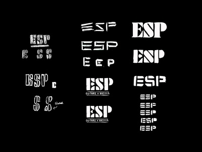 ESP Guitar - Revised Logos