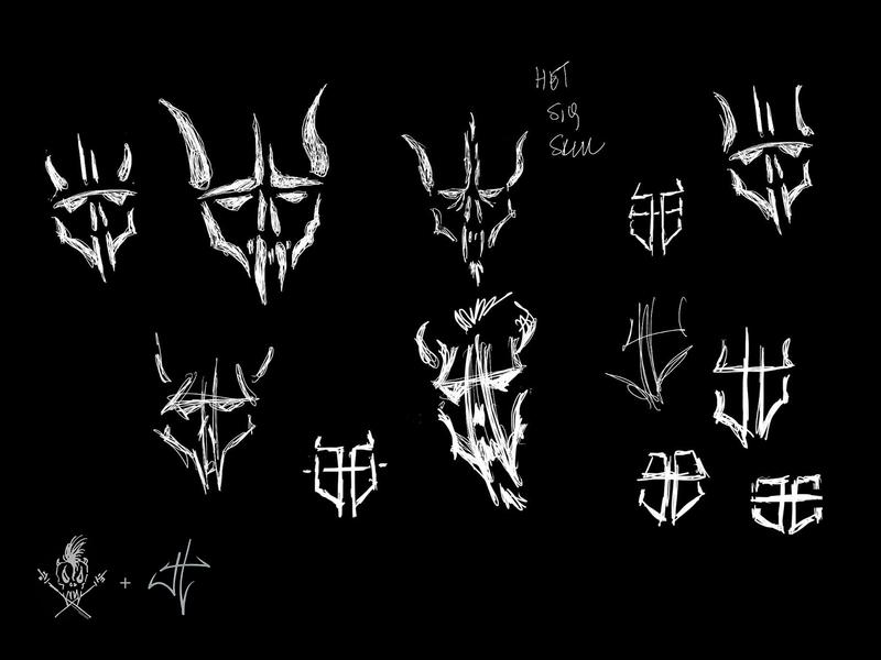 JH Logo Concepts typography logo identity skull type branding design music metallica metal