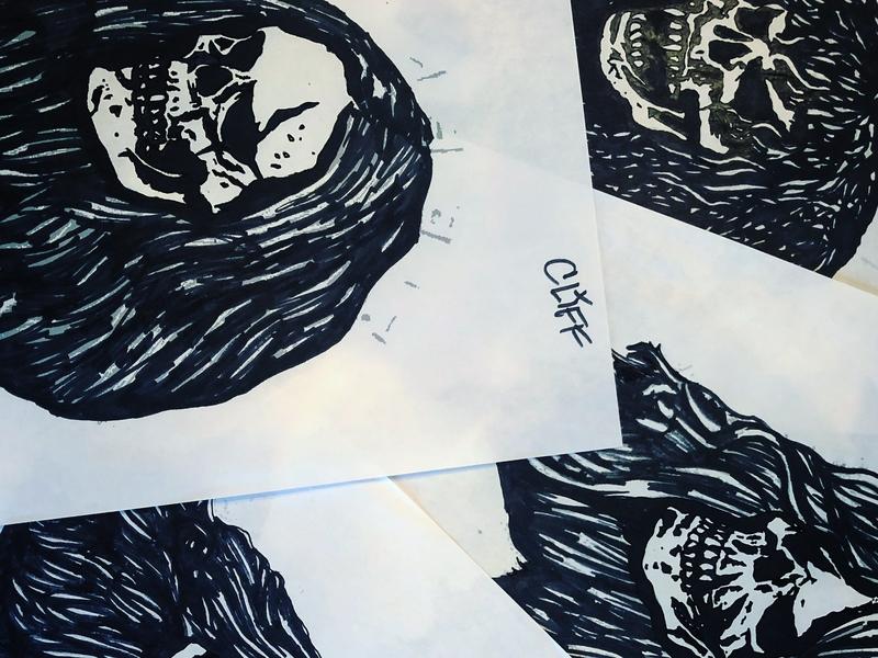 Metallica Skulls - Marker Study four horsemen analog ink marker sketch illustration drawing heavy metal music metallica skulls