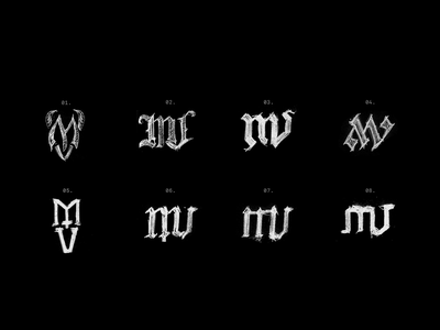 MV Monograms monograms letterform letters type illustration identity typography logo branding design