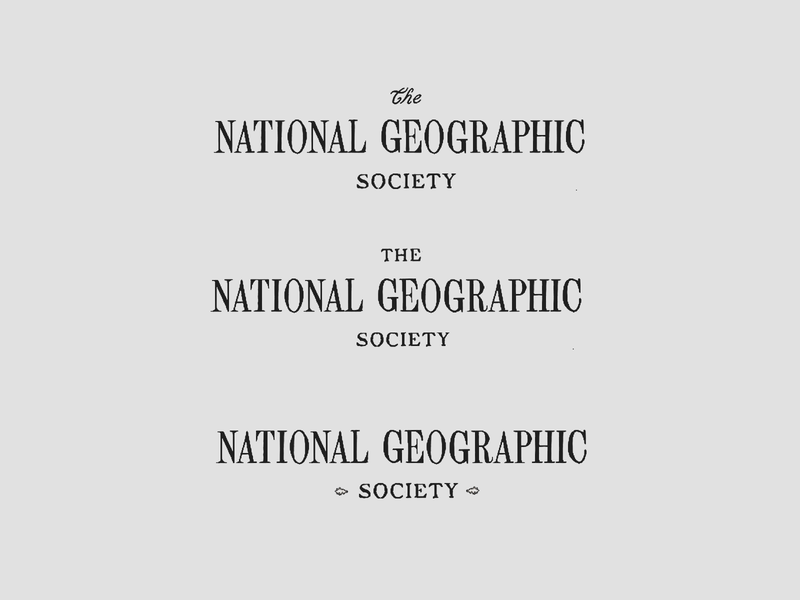 NGS - Vintage Typography letterform letters lettering serif geography type identity typography branding design
