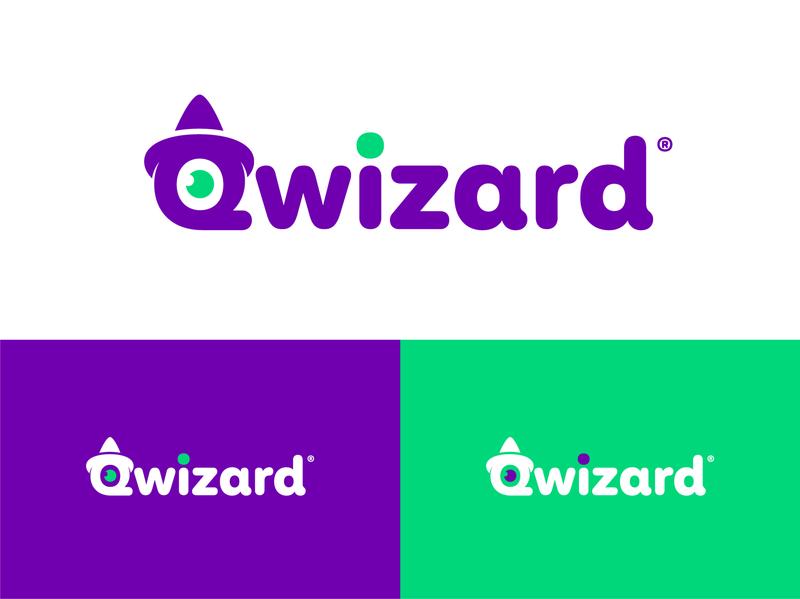 Branding - Qwizard simple logotype color clean typography logo idendity design branding brand
