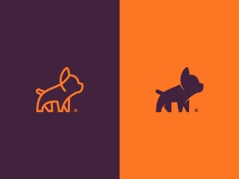 Visual Identity french bulldog dog vet veterinary flat clean animal simbol icon branding idendity logo brand