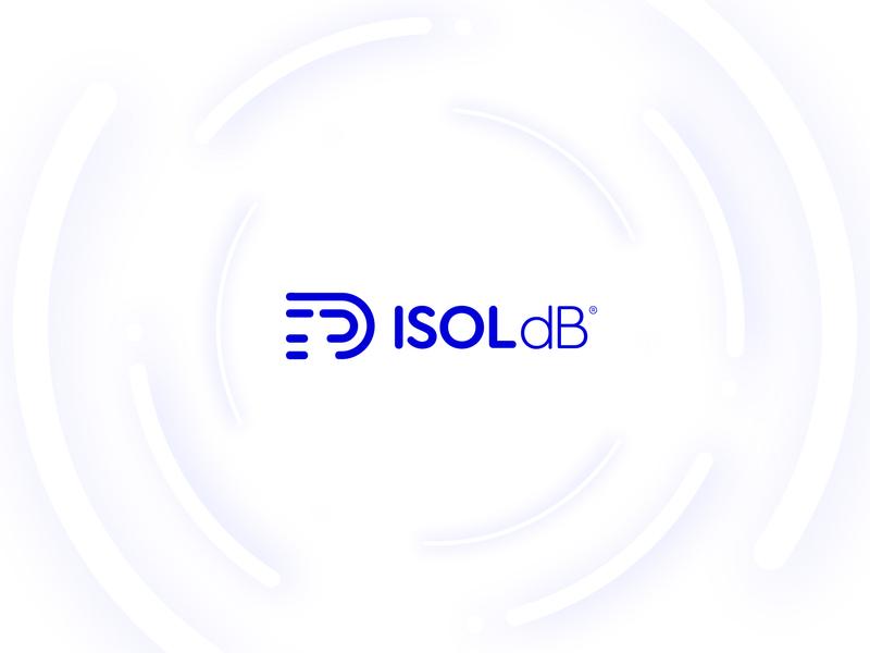 Visual Identity ISOL dB logotype idendity simple db id isolated isolation soundwave wave sound cork design logo clean branding brand