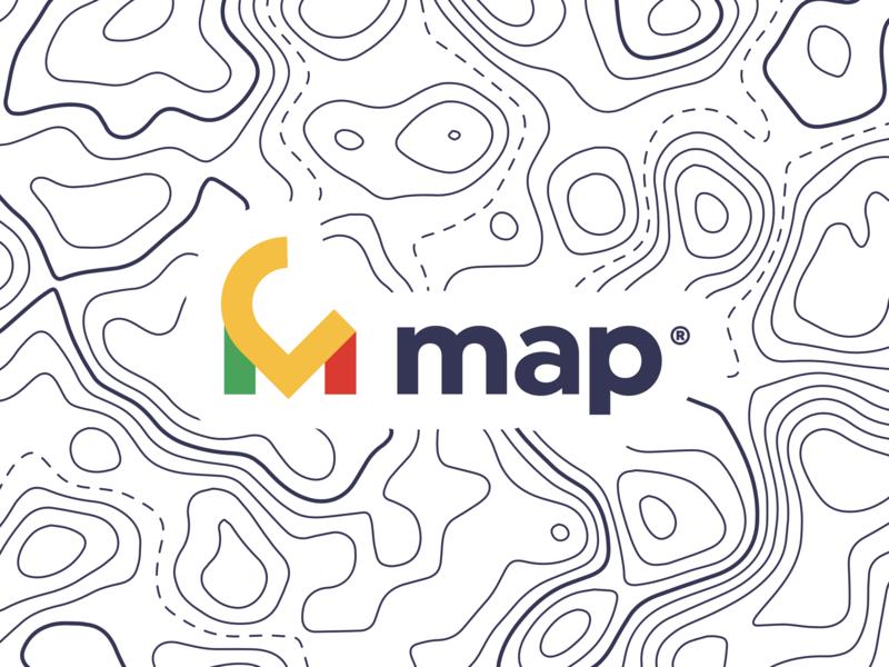 Map - Branding location map app illustration typography logo idendity design branding brand