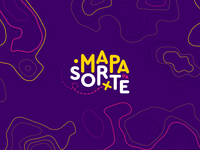 Branding - Mapa da Sorte (lucky map) hunt trendy color typography logo idendity branding brand design game map treasure