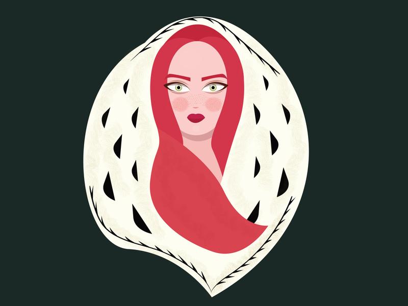 Foxy Girl fox illustration ginger girl character vector art illustration illustrator design animation