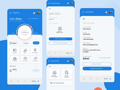 Electricity Vendor Mobile App Design icon app ui branding ux design