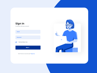 Intranet Portal sign in page icon branding illustration ux design
