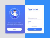 Login Page Design for e-Commerce company