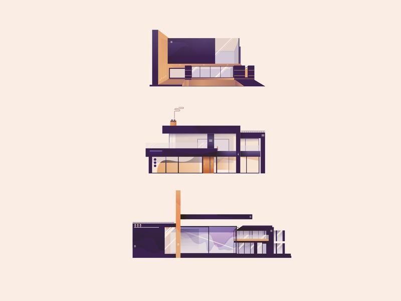 Flatlay Custom House Icons mark classic illustrator vector symbol illustration