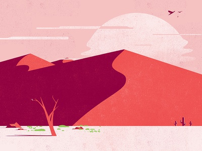 South Of The Desert hot lost texture birds desert illustrator symbol vector illustration