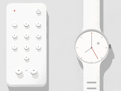 Braun Inspired Minimalist Remote and Watch