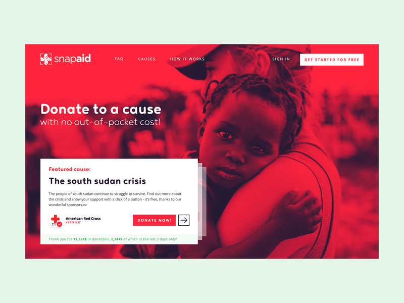 Archive 15/2017 south sudan humanitarian aid hero photo gradient mask charity donating 2017 dashboard web app typography landing page website webdesign ux grid design web ui desktop app