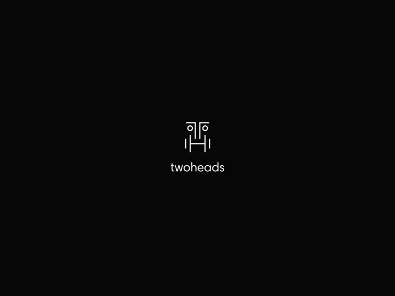 2heads / Twoheads - design and development studio design and development design studio mark sign identification handwritten wroclaw 2017 black and white logo 2d agency naming ci corporate identity visual identity identity branding brand logotype logo