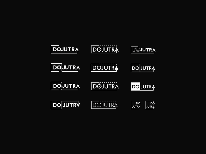 Dojutra - bar / meeting place in the <3 of Wroclaw vector illustration marketing dojutra explorations branding brand ci corporate identity identity bar poland wroclaw 2015 logotype sign mark logo typography design