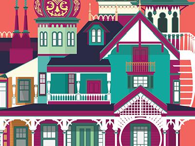 Disneyland Hong Kong vector illustrator illustration manor disneyland building architecture
